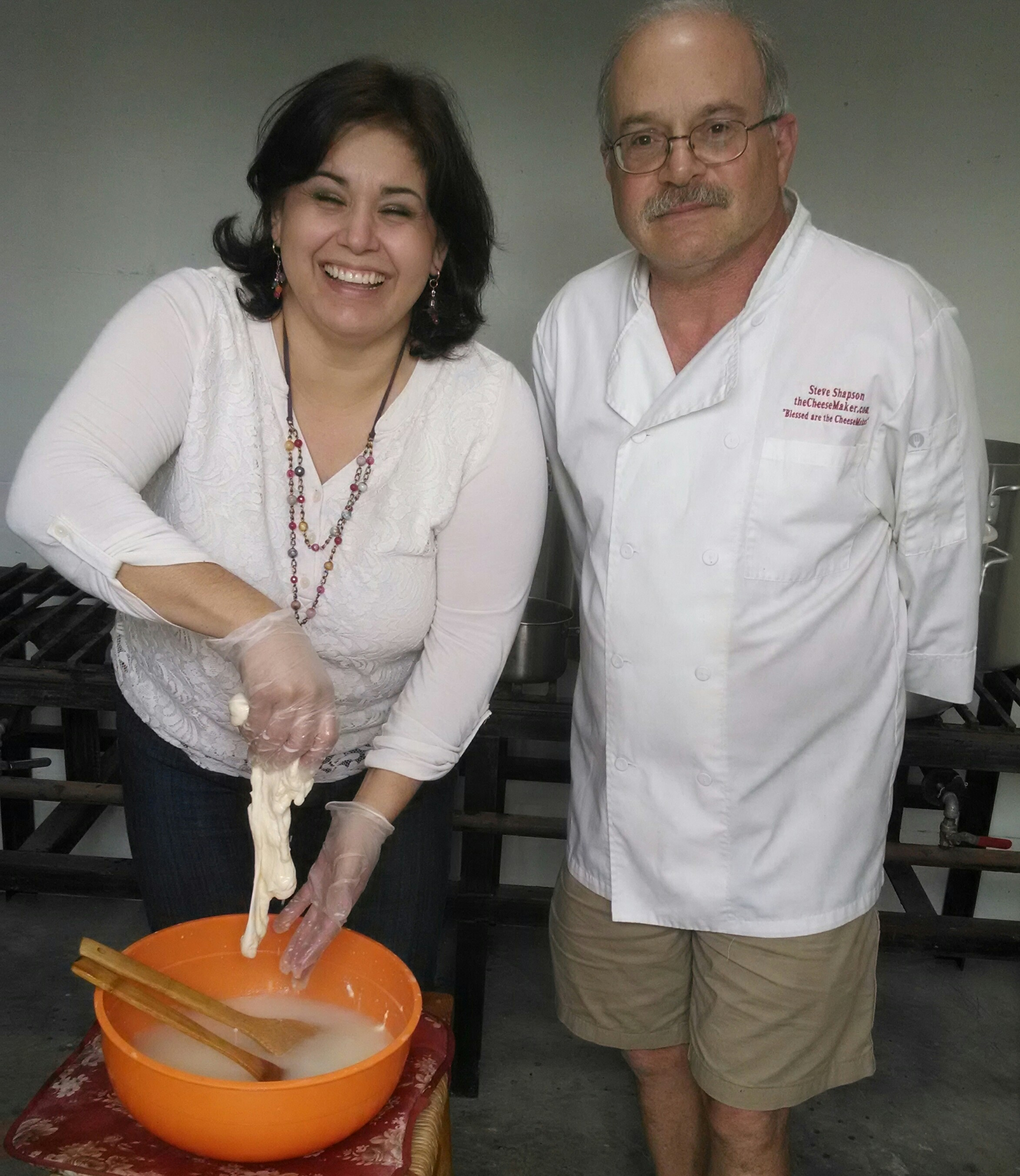 Steve Teaching Mozzarella Making