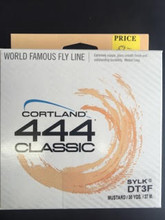 Cortland 444 Double Taper SYLK Fly lines Mustard Color. For Bamboo and Fiberglass.