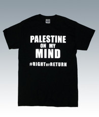 Palestine on My Mind T-Shirt (Black)