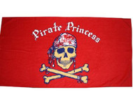 Pirate Princess Beach Towel