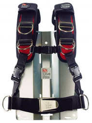Large - Dive Rite Transplate Harness - Red -Large