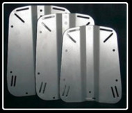 OxyCheq Stainless Steel Backplate -- Medium