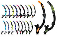 Aqua Lung Impulse 3 Snorkel - Non Flex - Black/Orange