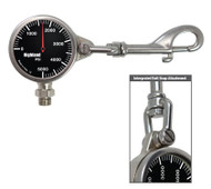 Highland Brass Pressure Gauge with Built in Snap