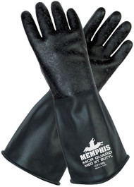 Butyl Rubber Gloves - 14 mil Rough Grip - Size XL