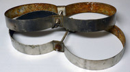 """Used Stainless Steel Tank Bands - 8"""" Need Scrubbing"""