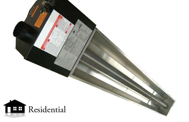 Sunray infrared garage heater 40 000btu propane atlas for Infrared garage heaters