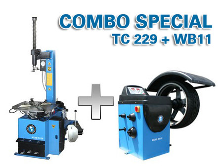 Atlas TC229 / WB11 - Tire Changer / Wheel Balancer Package