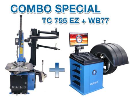 TC755EZ + WB77 Wheel balancer and tire changer