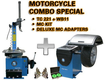 MOTORCYCLE - TC221 + WB11 + Tire changer and Wheel Balancer
