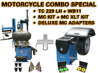 MOTORCYCLE - TC229LH + WB11 + MC KIT + MC XLT KIT + Deluxe MC Adapter wheel balancer and tire changer