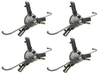 """Atlas® Fast Clamp Three Point 10""""-24"""" Non-Runout Wheel Clamps (Set Of 4)"""