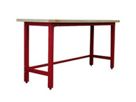 Workbench w/ Wood Top - Red