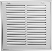 30x8 return air filter grille stamped face