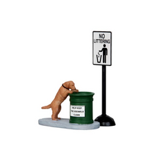 Lemax Village Collection No Littering, Set Of 2 #14364