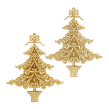 RAZ 6in Glittered Tree Ornament, 2 Assorted #3509631