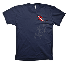TRIBAL HAMMERHEAD DIVE SHIRT - NAVY