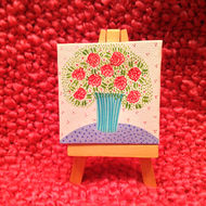 Original Mini Floral Painting - White No. 2