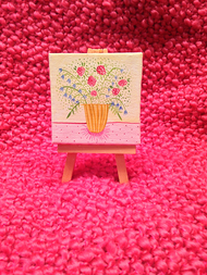 Original Mini Floral Painting - Yellow No.2