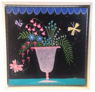 Original Painting by Jeanne van Etten White Frame