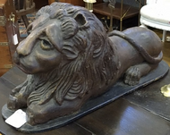 19th Century Peaceable Kingdom Carved Lion