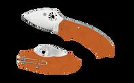 C64JPBORE Spyderco Meerkat Burnt Orange FRN/ HAP 40