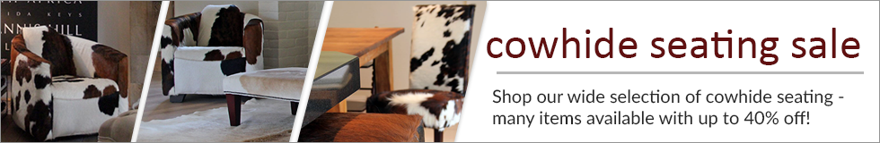 Cowhide Seating On Sale!