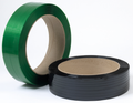 """3/8"""" X .020""""  Green  Machine Grade Polyester Strapping 16x6 - Coil of 9,600 Ft"""