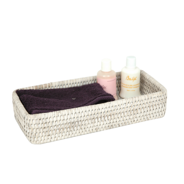 Bathroom Spa Tray - Light Rattan