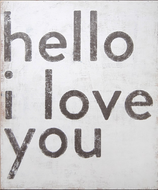 Hello I Love You Art Print