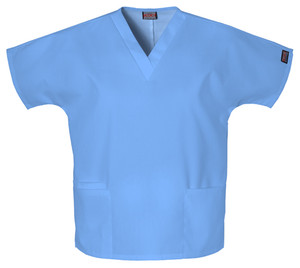 Cherokee V-Neck 2 Pocket Solid Scrub Top