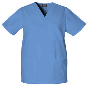 Cherokee Unisex V-Neck 3 Pocket Solid Scrub Top