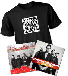 Just Say Jesus Autographed New Edition CD with QR T-Shirt Bundle and Christmas CD