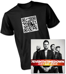 Just Say Jesus Autographed New Edition CD with QR T-Shirt Bundle