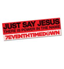 Just Say Jesus Bumper Sticker