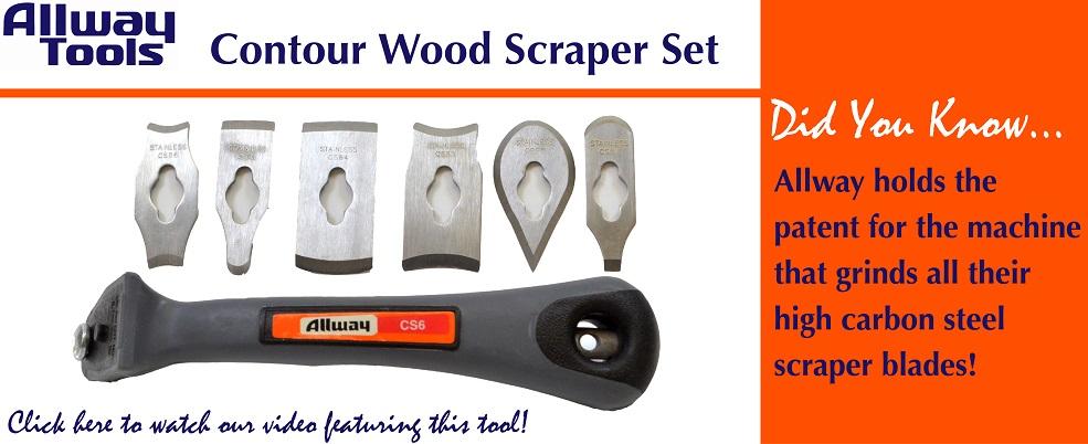 Allway Tools Contour Scraper Set, Quality tools for woodworking