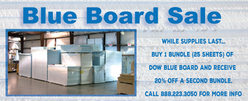 Dow Blue Board XPS insulation on Sale Now