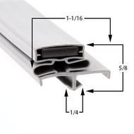 Glastender-Gasket-19-1/4-x-32-1/2-29-043-ND72-L1-SS(RLR)-ND72-R1-BS-06001309-1
