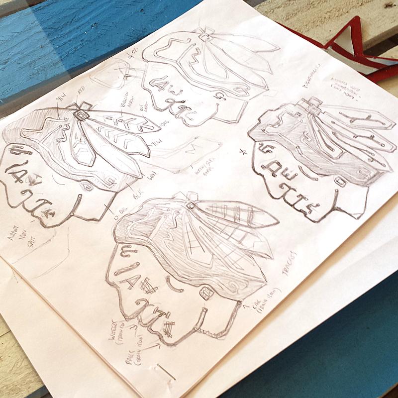 Transit Hawks rough sketches