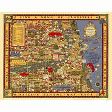 Chicago Gangland Map Poster