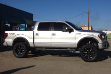 "2009-2014 Ford F150 4wd McGaughys 6.5"" Lift Kit Installed W/ Rear Shock - McGaughys 57050 (Side)"