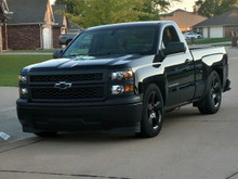 2015 Chevy Silverado 1500 Black Out Edition running the McGaughy's Suspension 34170 drop set at 4/6