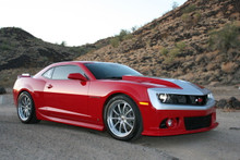 """2010-2013 Chevy Camaro Hardtop 1.25"""" Front / 1.5"""" Rear Lowering Kit - McGaughys 83000 Installed Front"""