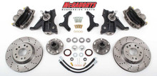 "1971-1972 Chevrolet C-10 13"" Front Cross Drilled Disc Brake Kit & 2.5"" Drop Spindles; 5x5 Bolt Pattern - McGaughys 63155"