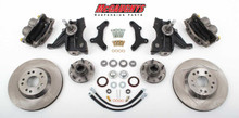 "1971-1972 Chevrolet C-10 13"" Front Disc Brake Kit & 2.5"" Drop Spindles; 5x4.75 Bolt Pattern - McGaughys 63152"