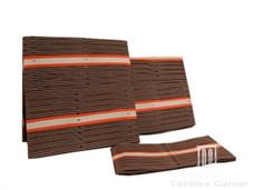 Aso-Oke A058 Brown/Beige/Orange