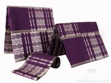 Aso-Oke A103 Purple/Silver