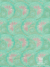Lace H694 Light Aqua/Baby Pink