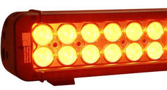 "Vision X 30"" Amber Xmitter Prime LED Light Bar Fifty Four 3-Watt LED's 10° Narrow Beam"