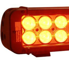 "Vision X 5"" Amber Xmitter Prime LED Light Bar Six 3-Watt LED's 10° Narrow Beam"